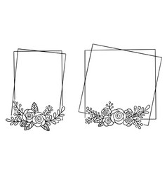 0006 hand drawn floral frame vector