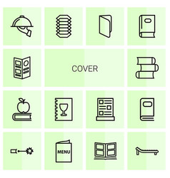 14 cover icons vector image