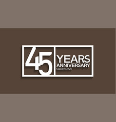 45 years anniversary logotype with white color vector