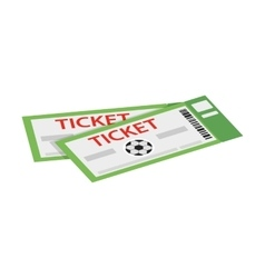 A pair of tickets for football isometric 3d icon vector image