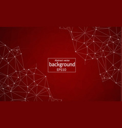 abstract red polygonal space background with vector image