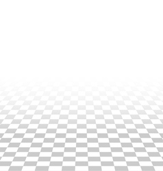 abstract square tile perspective white and gray vector image