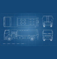 air fuel truck in outline style vector image