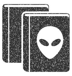 Alien Library Grainy Texture Icon vector image