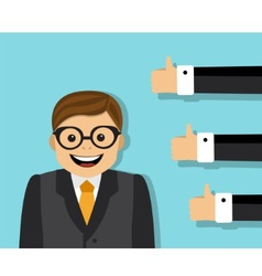 approval of the business team vector image