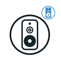 Audio speaker icon isolated vector image
