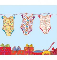 baby birthday vector image