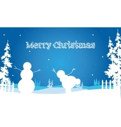 Backgrounds merry christmas snowman and spruce vector