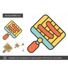 Backyard BBQ line icon vector