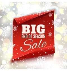 Big end of season sale poster vector image