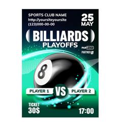 Billiard leisure active sport game banner vector