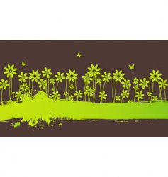 blot flowers vector image vector image