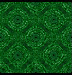 Bohemian green geometrical stone mandala pattern vector