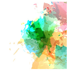 bright modern paint colorful splatter vector image