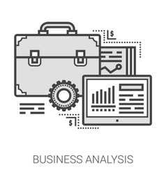 Business analysis line icons vector image