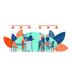 business meeting break corporate party teamwork vector image