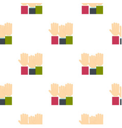 Businessmen hands up pattern flat vector