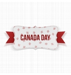 Canada Day realistic national Label vector