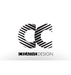 Cc c c lines letter design with creative elegant vector