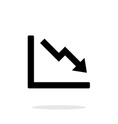 Chart down icon on white background vector image