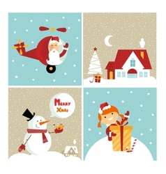 chrismas card vector image