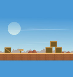 Collection stock background game with box vector