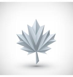 Conceptual polygonal maple leaf vector