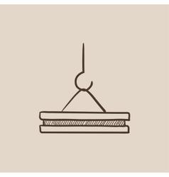 Crane hook sketch icon vector image