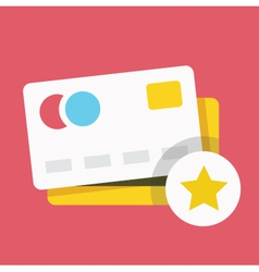 Credit Card and Star Sign Icon vector image