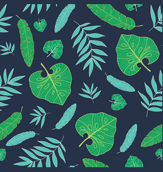 dark tropical summer hawaiian seamless vector image