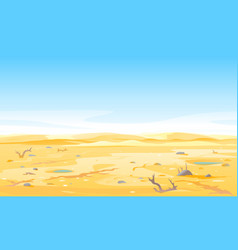 dry river on drought parched ground vector image