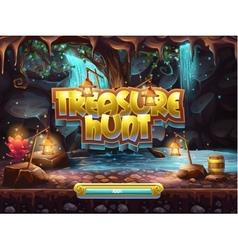 Example boot screen to play treasure hunt vector