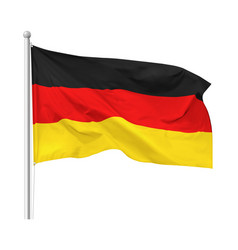 Flag federal republic germany isolated vector