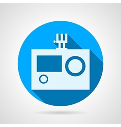 Flat icon for action camera vector image