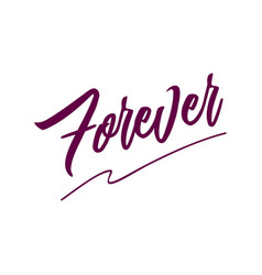 forever card hand drawn lettering background ink vector image