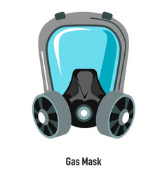 gas mask with protective glass shield vector image