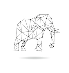 Geometric elephant design silhouette vector