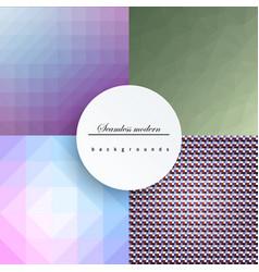 glazed ceramic tiles mega set colorful vintage vector image