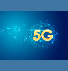 golden 5g vector image