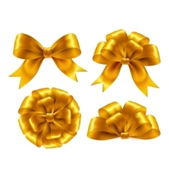 Golden Bow Isolated On White Background vector image
