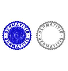 Grunge dermatitis scratched stamps vector