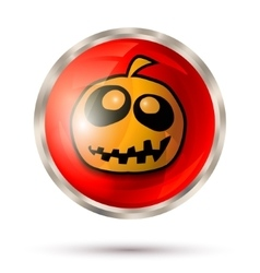 Halloween button icon vector image