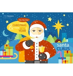 Happy Santa Claus profession series vector