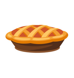 Happy thanksgiving turkey pie vector