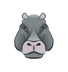 Hippopotamus in cartoon style vector