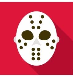 Hockey goalie mask icon flat style vector