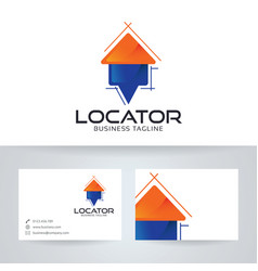 Home locator logo design vector