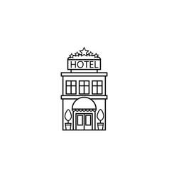Hotel line icon travel tourism vector