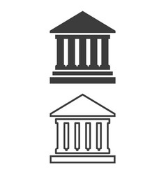 icon of bank on white background vector image