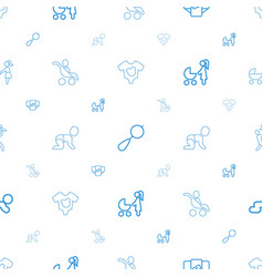 Infant icons pattern seamless white background vector